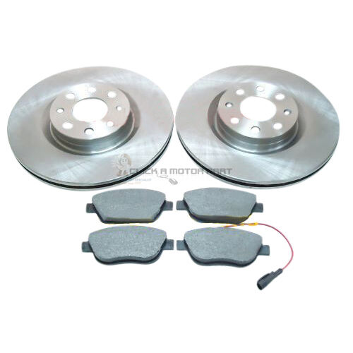 FIAT GRANDE PUNTO 1.3 JTD 1.9D FRONT 2 BRAKE DISCS 284MM AND MINTEX PADS SET NEW