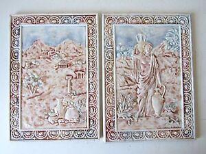 Piastrelle Villeroy Boch.Coppia Mattonelle Piastrelle In Ceramica Villeroy E Boch Anni 20 40