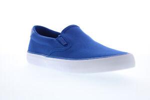 Lugz Clipper MCLIPRC-485 Mens Blue Canvas Slip On Lifestyle Sneakers Shoes 7.5