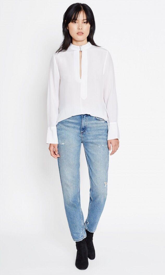 NEW Equipment Janelle Silk Shirt. - Weiß Größe L   T738
