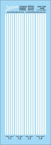 decal naßschiebebild Rayas//Stripes//volumen 1,1-1,4 mm 50x140 mm