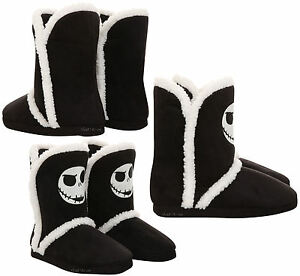26836b202d0 Image is loading DISNEY-Nightmare-Before-Christmas-JACK-Slippers-Boots -Sherpa-