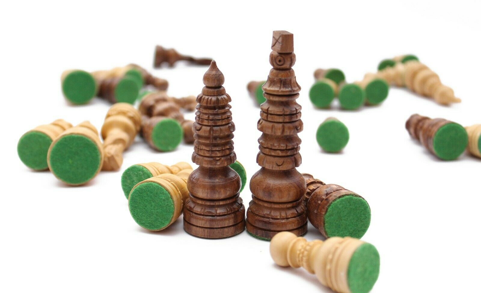 The Antique Design Indian Hand Made Chess Set Pieces Only - 3.6'' inch-King