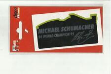 ADESIVO VINTAGE STICKER michael schumacher collection  mod4