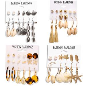 Women/'s Fashion Acrylic Tortoise Shell Earring Round Circle Resin Hoop Earrings