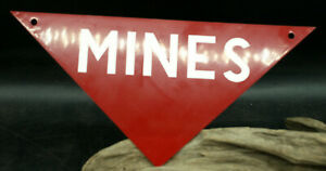 Official Military Issue Mines Sign