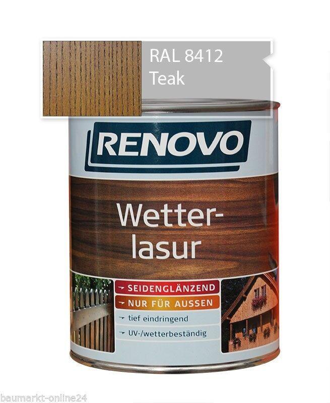 Wetterlasur Holzlasur 4 L Teak Renovo