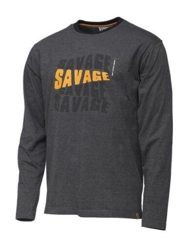 Savage Gear Simply Savage Logo Tee Longsleeve Shirt Angelshirt versch Größen