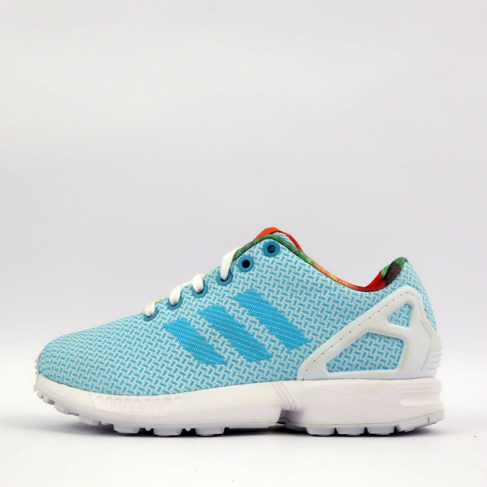 adidas Originals ZX Flux Weave Womens Trainers Shoes Aqua