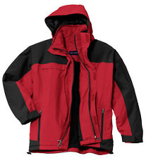 NEWPort Authority Winter Coat Engine Red Black Men's Nootka Jacket XL Waterproof