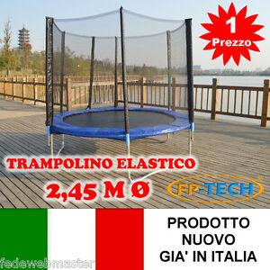 TRAMPOLINO-ELASTICO-DA-GIARDINO-2-45-M-245-TAPPETO-ELASTICO-ESTERNO-SPORT-RETE