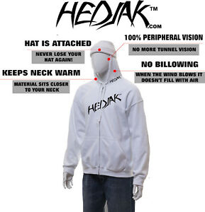 HEDJAK-Safety-Hoodie-White-Zip-Up-or-Pullover-Hooded-Sweatshirt-Youth-or-Adult