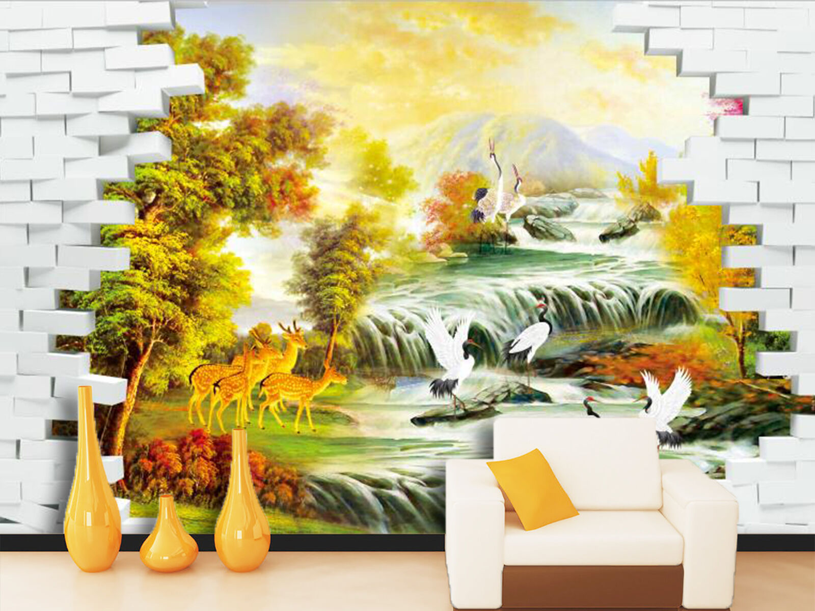 3D Forest, animal 356 Wall Paper Wall Print Decal Wall Deco Indoor Wall Murals