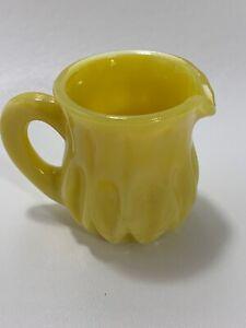 Boyd-Art-Glass-Buttercup-Mini-Cream-Pitcher-Toothpick-Holder