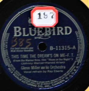 Glenn-Miller-This-Time-the-Dream-039-s-On-Me-78-NM-Bluebird-11315-Says-Who-You-I