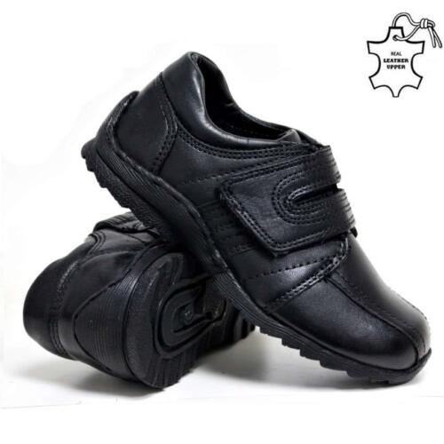 Boys Leather School Shoes New Kids Smart Dress Formal Back To School Shoes Size