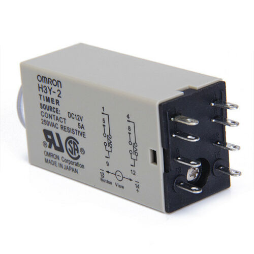 H3Y-2 DC12V Delay Timer Time Relay 0-60 Minutes with Socket Delay Base