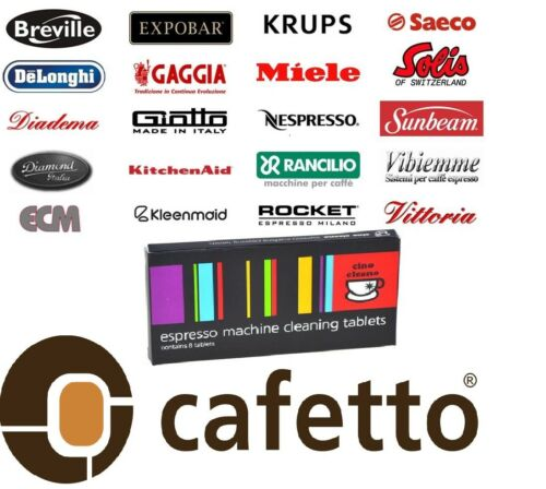 CAFETTO CINO CLEANO CLEANING TABLETS Espresso Coffee Machine Cleaner 24 Tablet