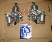 "Pair Genuine SU Carburetors HS2 1 1/4"" for MG Midget Sprite  1275 Completely New"