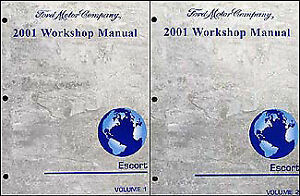 2001 Ford Escort Repair Shop Manual 2 volume set ZX2 ZX ...