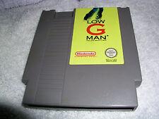 Nintendo Nes Low G Man  Game Cart    Pal