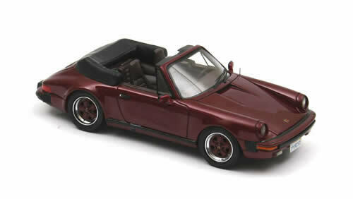 NEO PORSCHE 911 CABIO Federal 1985 Red meta 1:43 43252