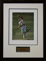 Australian Cricket Great Jeff Thomson Signed Photo Framed