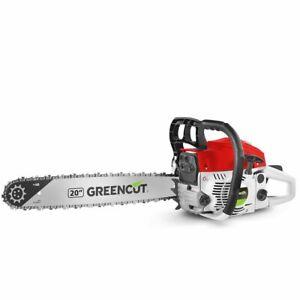 Greencut 61,2cc Motosierra Gasolina - Roja