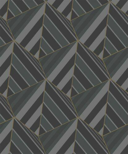 A38002 Grandeco vie Prisme Noir Papier Peint