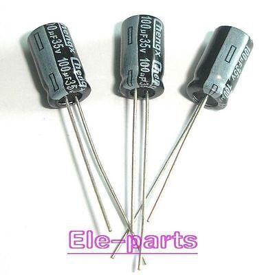 100pcs 100uF 35V Electrolytic Capacitor 35V 100UF 6x12mm
