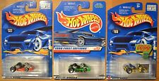 Hot Wheels Go Kart x3, 1998 First Editions, 2001 #141 Orange, 2002 #198 Yellow