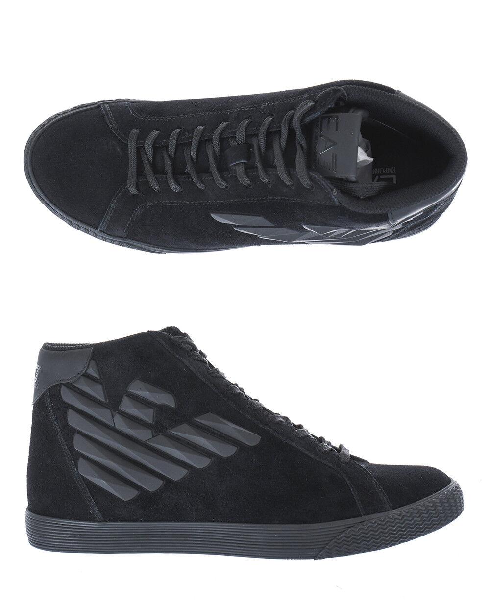 Stivaletti schuhe Emporio Armani Ea7 Ankle Stiefel Pelle herren schwarz X8Z005XK007 2