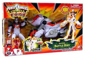 Power Rangers Jungle Fury Bataille de Rhino Battle Action Figure Véhicule 45557300593