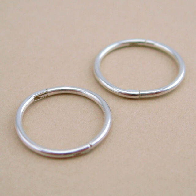925 Solid Sterling Silver Sleepers 10/12mm Aust Made