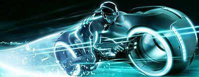 """Tron Legacy Light Cycles Movie Fabric poster 59"""" x 24"""" Decor 02"""