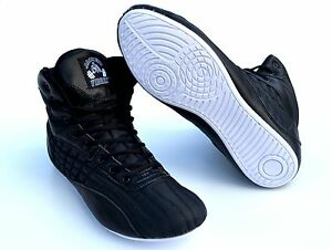a98ef6b2008b13 Mens Gym Shoes Weight Lifting High Top Boots Bodybuilding MMA Boxing ...