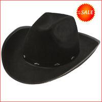 Black Cowboy Hat Fedora Felt Justin Cowgirl Stylish Western Costume Woman Party