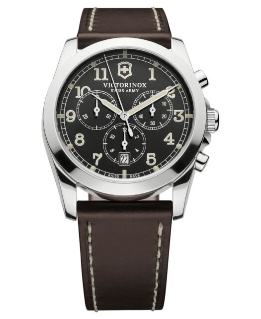 Victorinox Swiss Army 241567 Infantry Chronograph Men s Leather Watch 408920b4a5