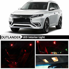 8x Red Interior LED Lights Package for 2013-2016 Mitsubishi Outlander