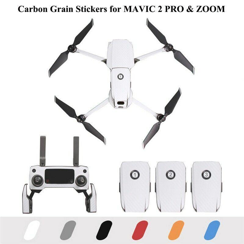 Carbon Skin For DJI MAVIC 2 PRO & ZOOM (Aus seller, same day shipping)