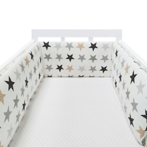 Baby-Crib-Bumper-Thicken-Pad-Breathable-Comfy-Toddler-Bed-Cot-Protector-Cotton