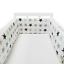 Baby-Crib-Bumper-Thicken-Pad-Breathable-Comfy-Toddler-Bed-Cot-Protector-Cotton miniature 1