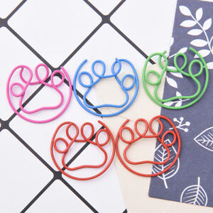 5Pcs-Metal-Claw-Shaped-Clips-Bookmarks-School-Office-Stationery-Paper-Clips-NT