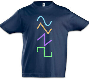 Waves-Kinder-Jungen-T-Shirt-Techno-MC-DJ-Audio-Music-Electro-Synthesizer-Volume