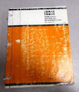case w20b wheel loader parts catalog manual