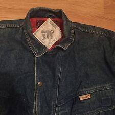Wrangler Mens Vintage Western Denim Jacket Blue Large L 100% Cotton Thick