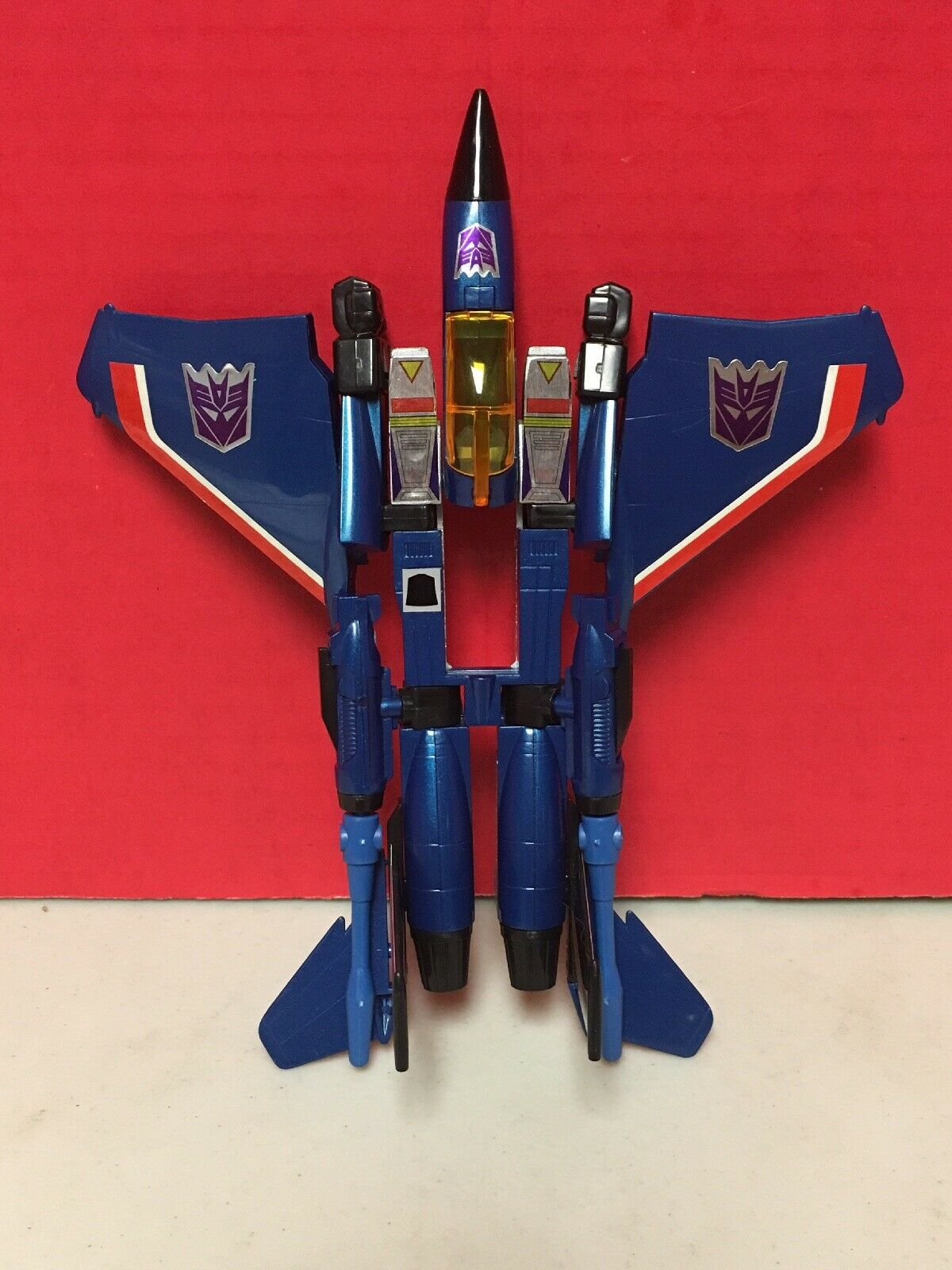 Transformers bleu Seeker Jet G1 ENCORE CRAQUE 2002 Hasbro Takara