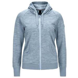 Damen Essential Super Hellblau Merino natural Hood Tempo Kapuzenjacke qIv1wv