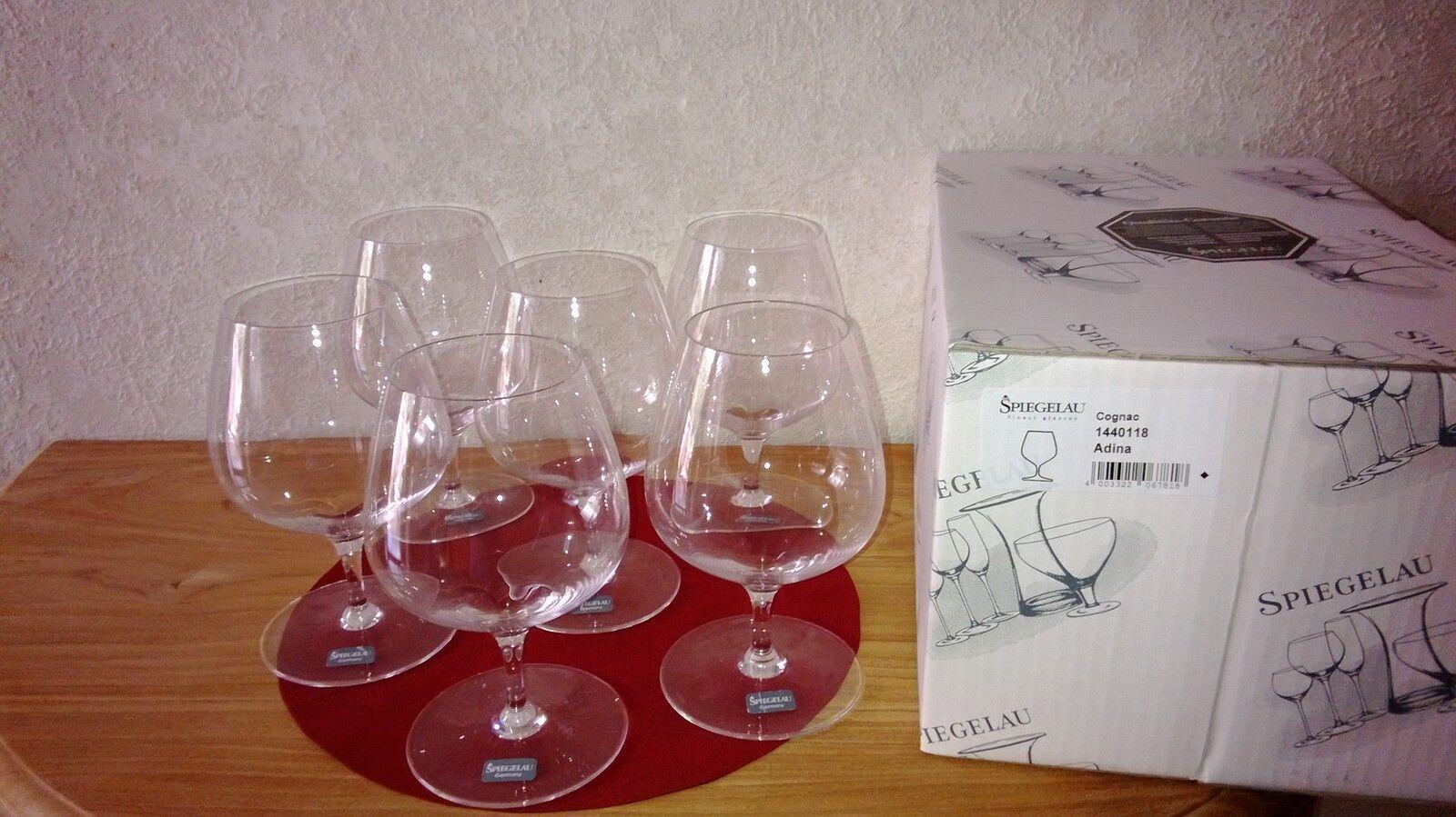 SPIEGELAU nouveau ADINA Set 6 Verres à cognac H.167mm Glasses