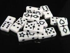 20 X 20 Mm Blanco Domino Abalorios estilo espaciador Naipes Doble agujero del grano S31